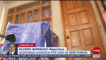 FOTO: Suspenden audiencia por caso robo bebé Nancy Tirzo