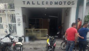 Foto: Comando armado ejecuta a cuatro hombres en taller de motos en Sahuayo, Michoacán, 10 octubre 2019