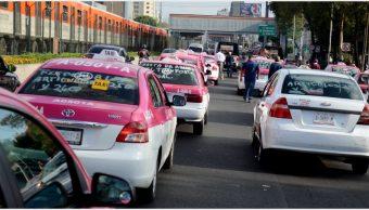 Imagen: Taxistas no se movilizarán el lunes en CDMX, 20 de octubre de 2019 (ARMANDO MONROY /CUARTOSCURO.COM)