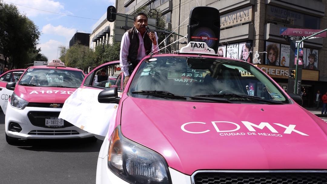 Marcha-taxistas-Semana-sin-taxis-bloqueos-boicot
