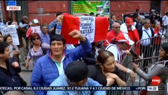 FOTO: Tensión política podría generar disturbios en Perú, 20 octubre 2019