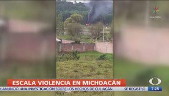 Tensión y violencia en municipios de Michoacán