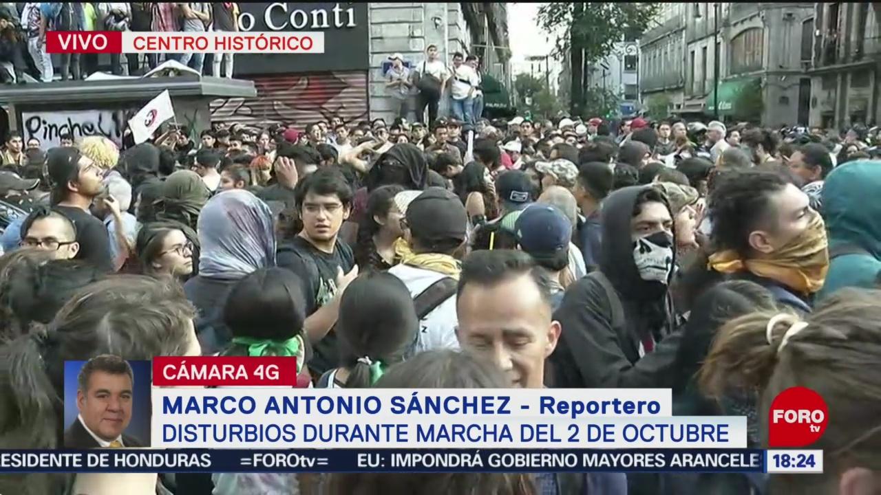 FOTO: Contingentes Marcha 2 Octubre Tratan Llegar Zócalo