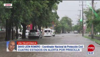 Tormenta 'Priscila' dejó fuertes lluvias en Colima y Jalisco