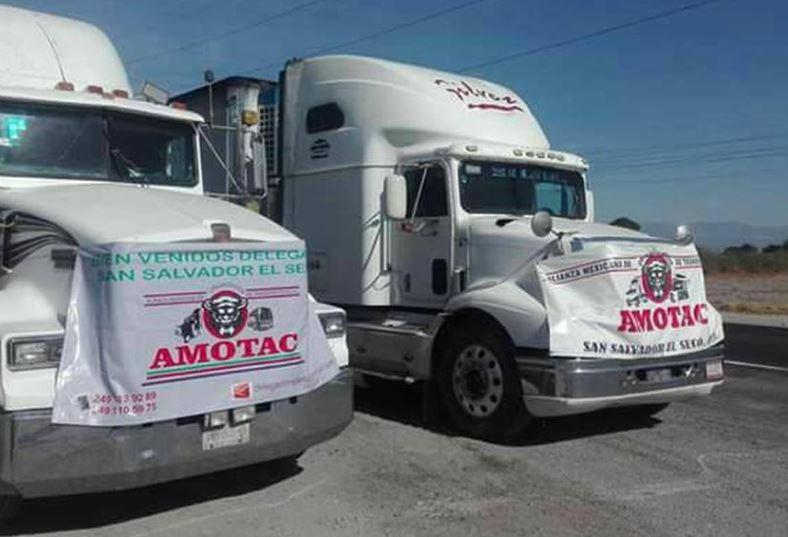 Foto: Los transportistas realizaron paros en distintos puntos de México, el 29 de octubre de 2019 (Twitter)