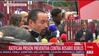 FOTO: Ratifican Prisión Preventiva Contra Rosario Robles,