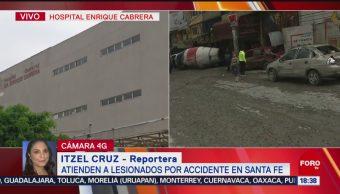 FOTO: Trasladan Emergencia Lesionados Por Accidente Santa Fe