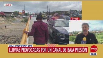 Tromba azota a Baja California Sur y muere una persona