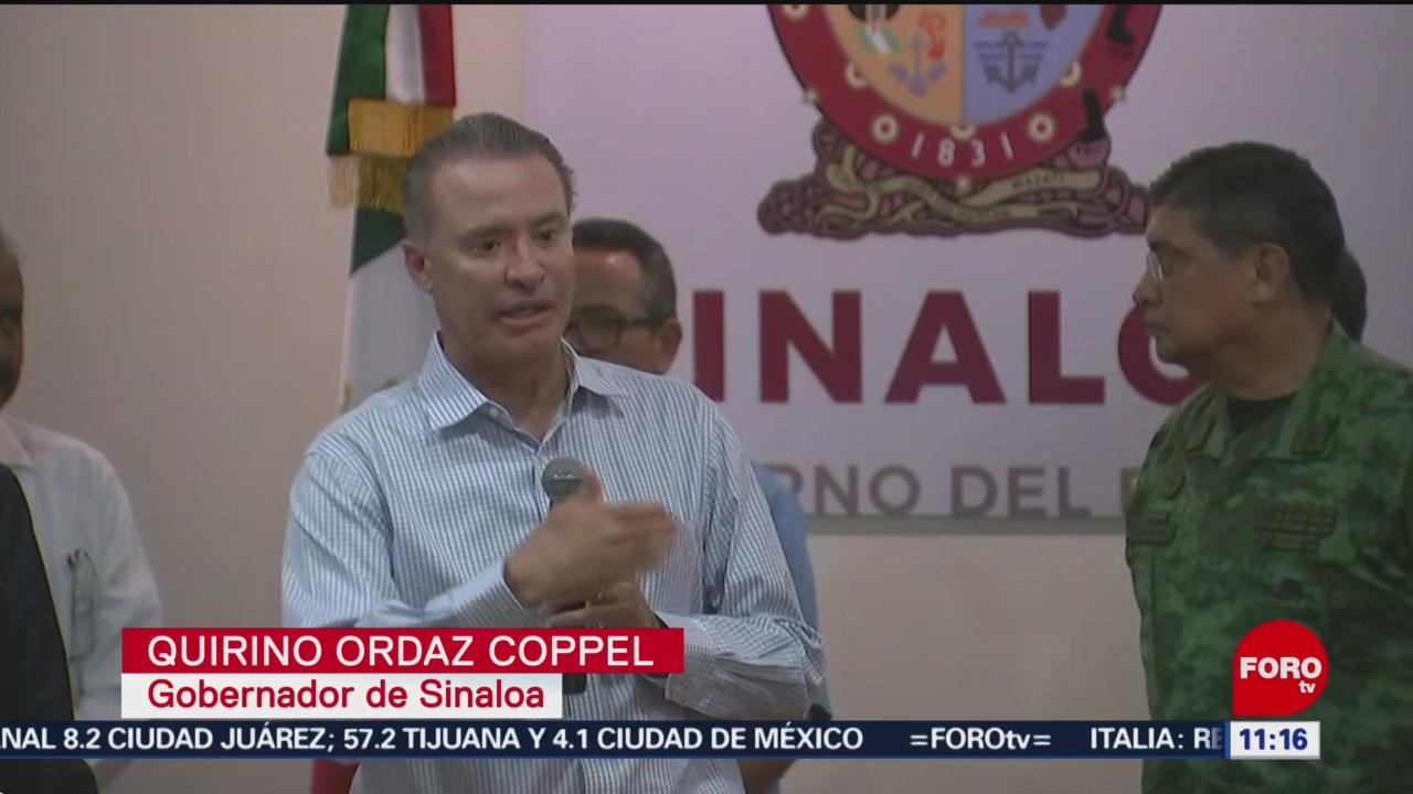 Un acierto haber suspendido clases en Culiacán, dice Quirino Ordaz