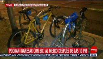 Foto: Metro Ingresar Bici Todos Días 21 Octubre 2019