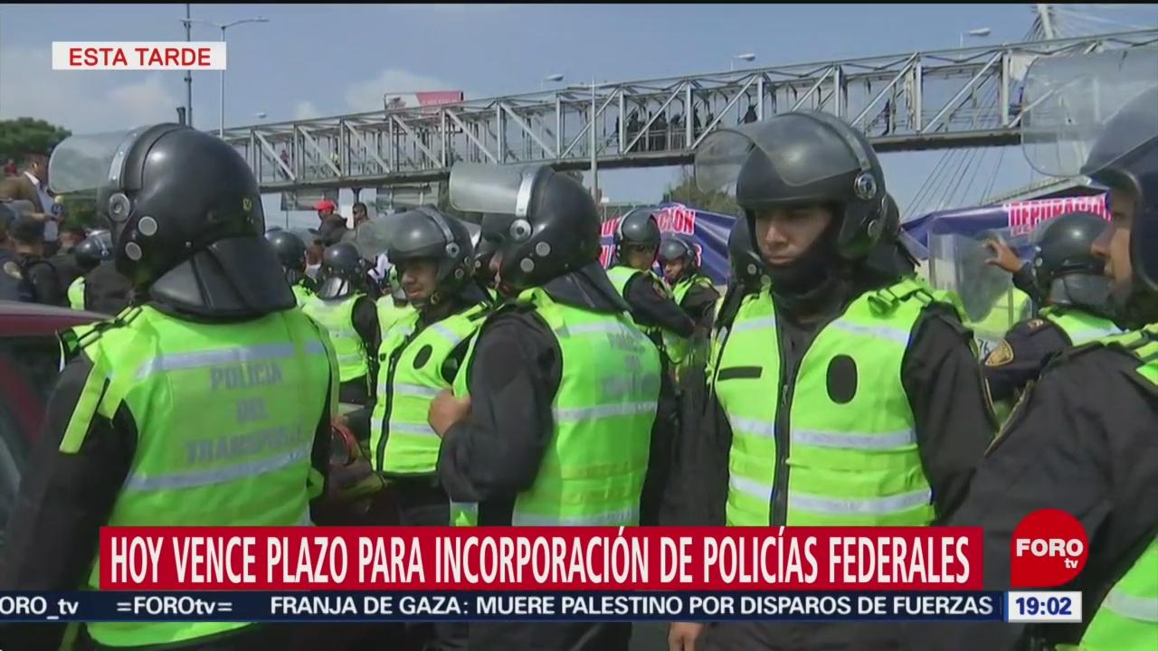 Foto: Plazo Incorporación Policías Federales Guardia Nacional 4 Octubre 2019