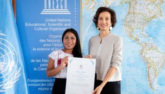 FOTO Yalitza Aparicio, embajadora de Unesco, quiere dar visibilidad a indígenas (Twitter UNESCO)