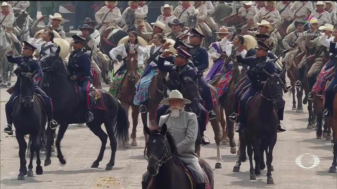 Foto: Recorrido Contingente Revolucionario Desfile Revolucionario CDMX 20 Noviembre 2019