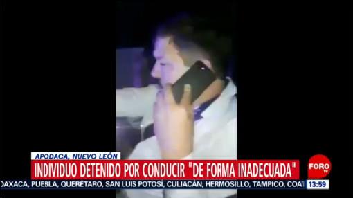 FOTO: Alcalde ebrio protagoniza escándalo en Apodaca, Nuevo León, 28 noviembre 2019