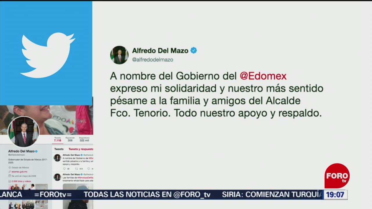 Alfredo del Mazo expresa condolencias por muerte de alcalde de Valle de Chalco