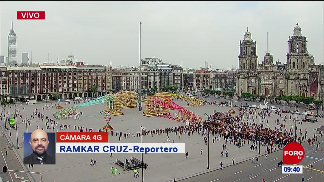 FOTO: AMLO inaugura ofrenda monumental del Día de Muertos, 1 noviembre 2019