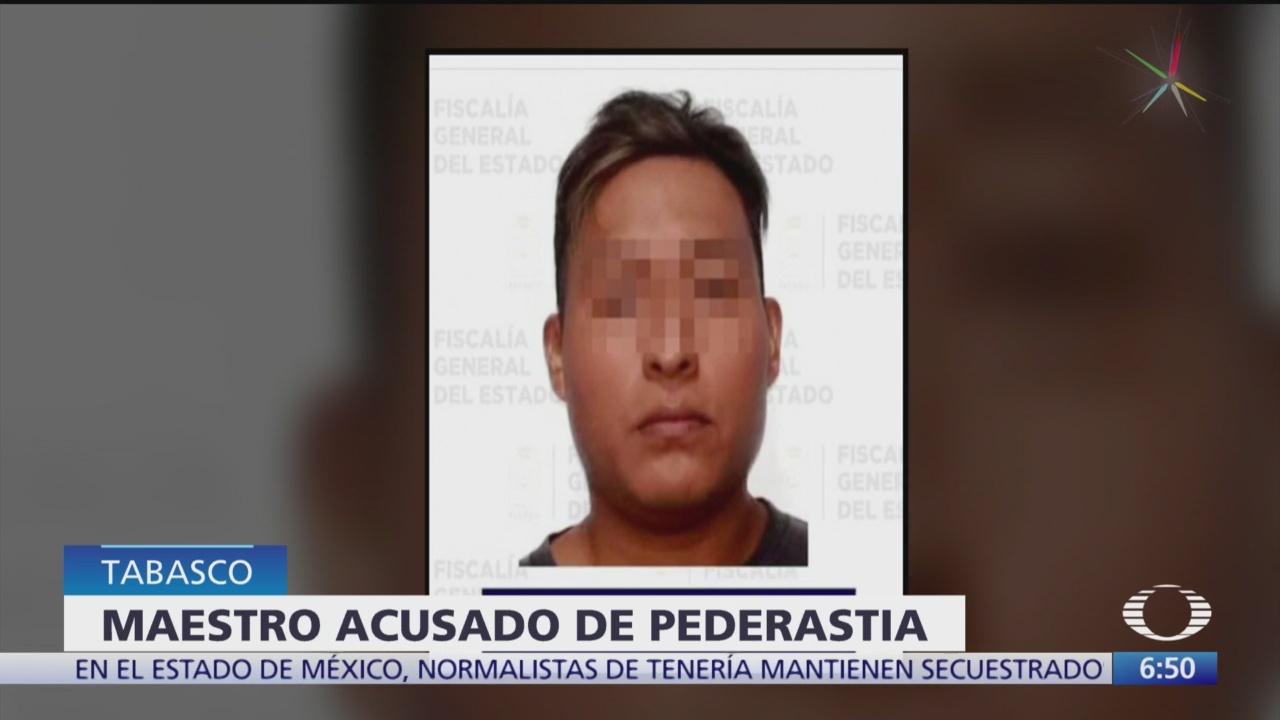 Foto: Arrestan maestro acusado pederastia colegio Villahermosa,