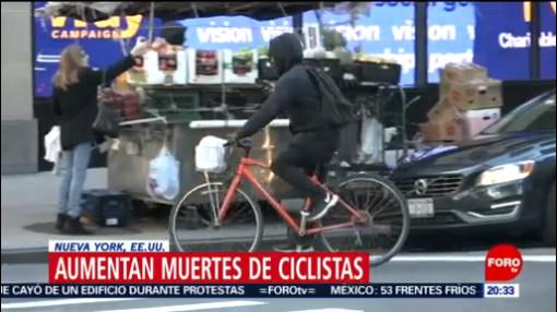 Foto: Ciclistas Nueva York Aumentan Muertes 8 Noviembre 2019