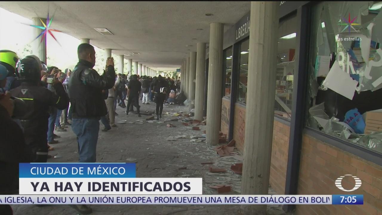 Foto: Buscan encapuchados que causaron destrozos Ciudad Universitaria UNAM