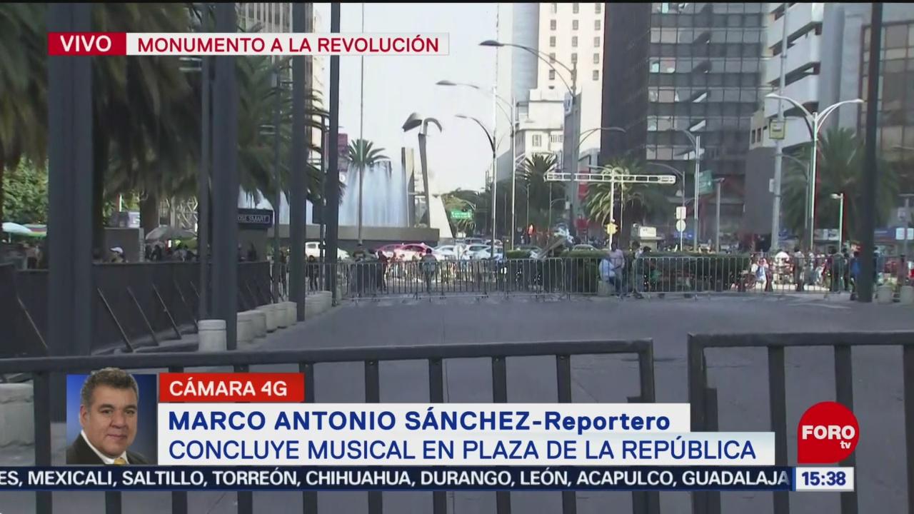 FOTO: Concluye concierto explanada Monumento Revolución,