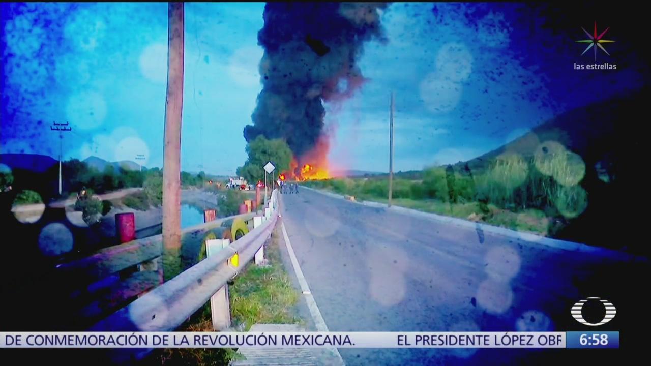 Controlan incendio en ducto de ducto de Pemex de Tetepango, Hidalgo