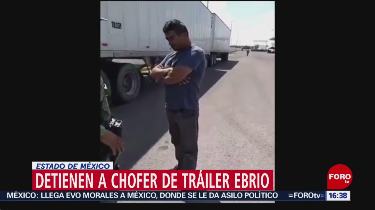 FOTO: Video chofer tráiler que conducía ebrio Edomex
