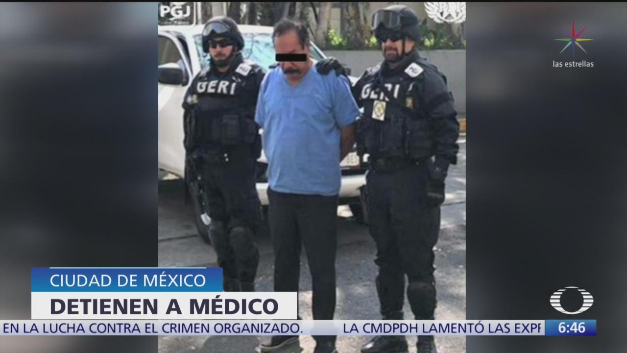 Detienen a médico secuestrador en la CDMX