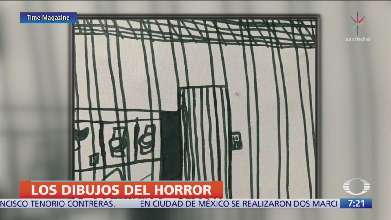 Dibujos hechos por niños migrantes