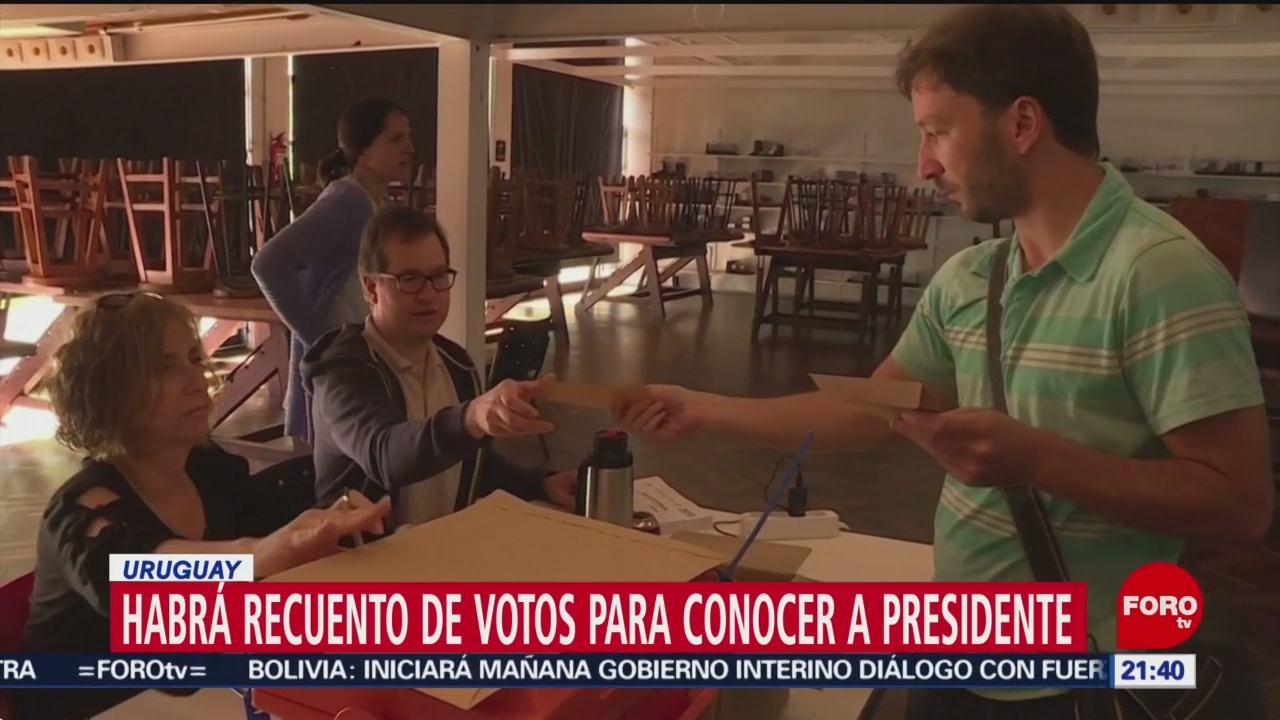 FOTO: El ganador de las elecciones de Uruguay será dado a conocer tras recuento de votos, 24 noviembre 2019