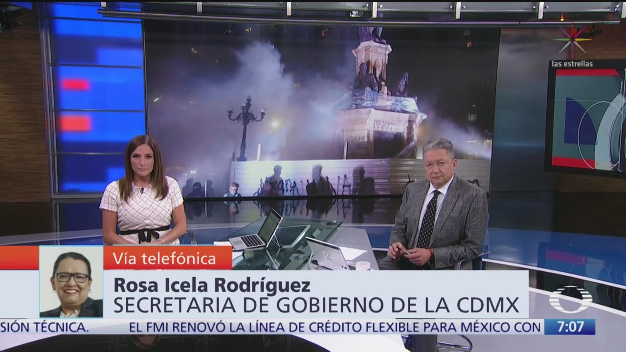 Entrevista con Rosa Icela Rodríguez, secretaria de Gobierno CDMX, en Despierta