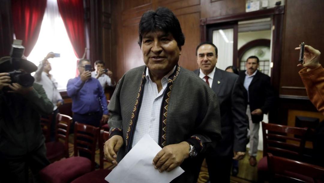 Foto: Evo Morales llegó a México luego que el Ejército de Bolivia solicitara su renuncia, el 27 de noviembre de 2019 (Reuters)