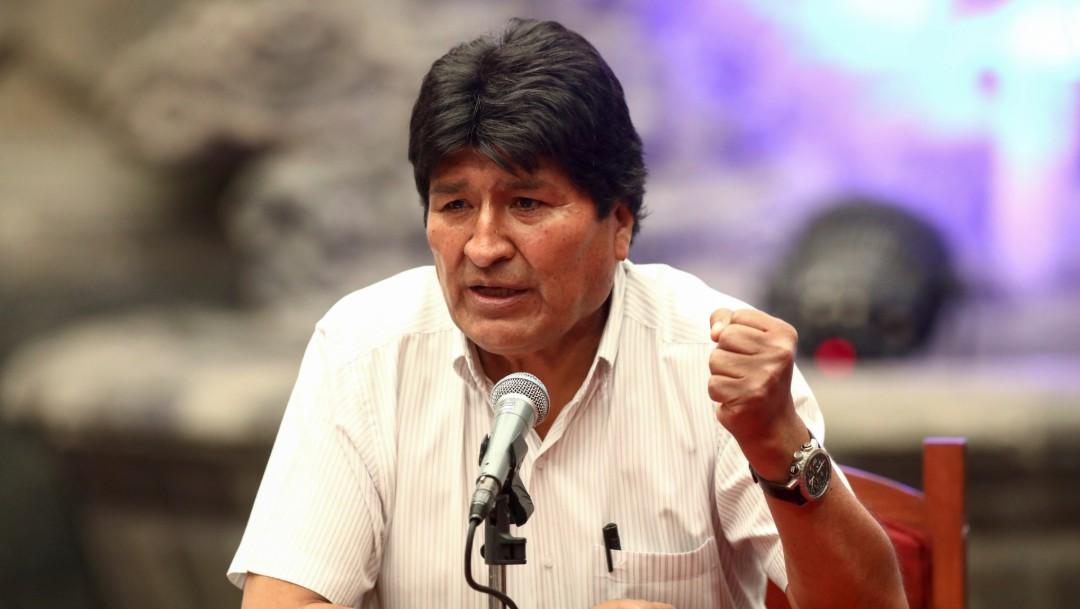 Foto: Evo Morales ofrece primera conferencia de prensa en México, 13 de noviembre de 2019