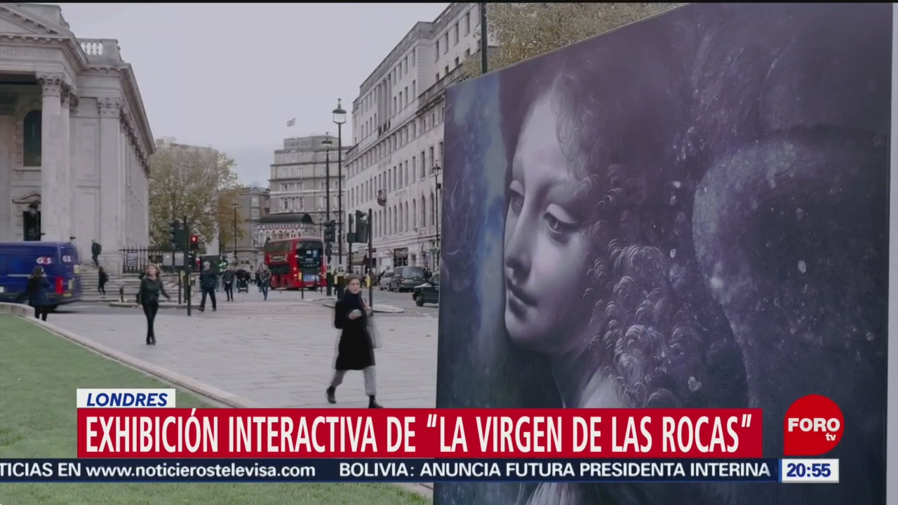 FOTO:Exhibición interactiva de 'La Virgen de las Rocas' en Londres, 11 noviembre 2019