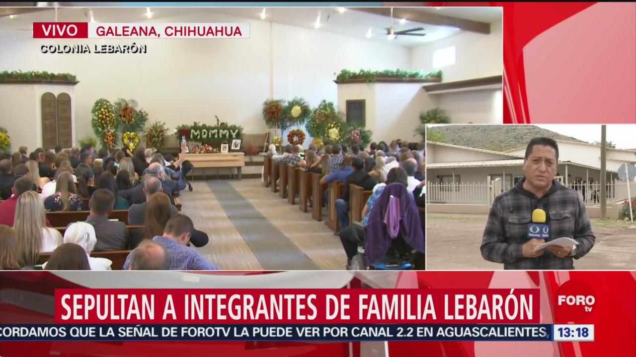 FOTO: Familiares y amigos le dan el último adiós a integrante de la familia Lebarón, 9 noviembre 2019