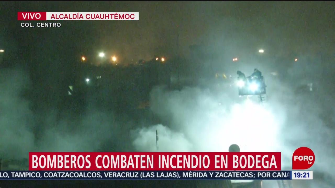 FOTO:Incendio en bodega del Centro de CDMX lleva 15 horas, 15 noviembre 2019