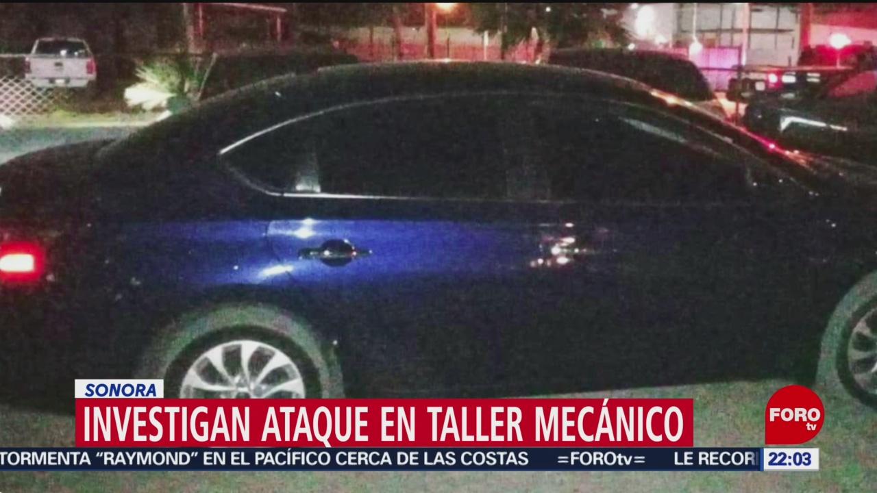 FOTO:Investigan ataque a taller de San Luis Río Colorado; hay tres muertos, 17 noviembre 2019