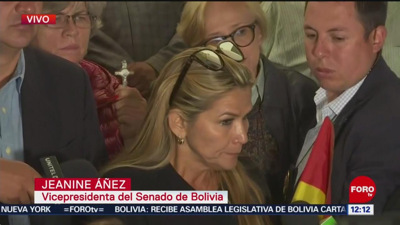 Jeanine Añez podría asumir Presidencia interina de Bolivia