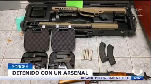 Joven estadounidense intenta entrar a México con arsenal