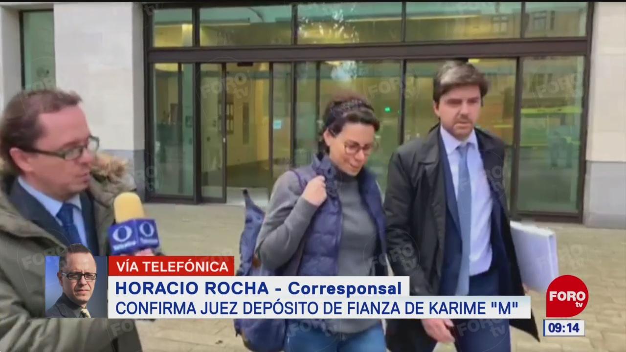 Juez confirma depósito de fianza de Karime Macías