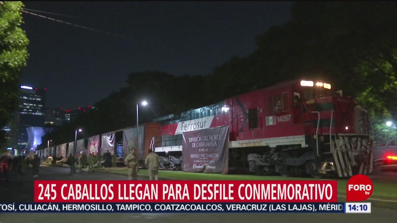 FOTO: Llegan a CDMX 245 jinetes con sus caballos para participar en Desfile de la Revolución Mexicana, 17 noviembre 2019