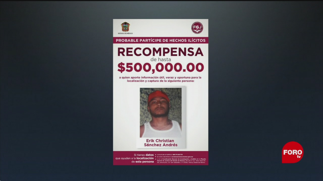 Foto: Recompensa Asesino Homicidio Alcalde Valle Chalco 22 Noviembre 2019