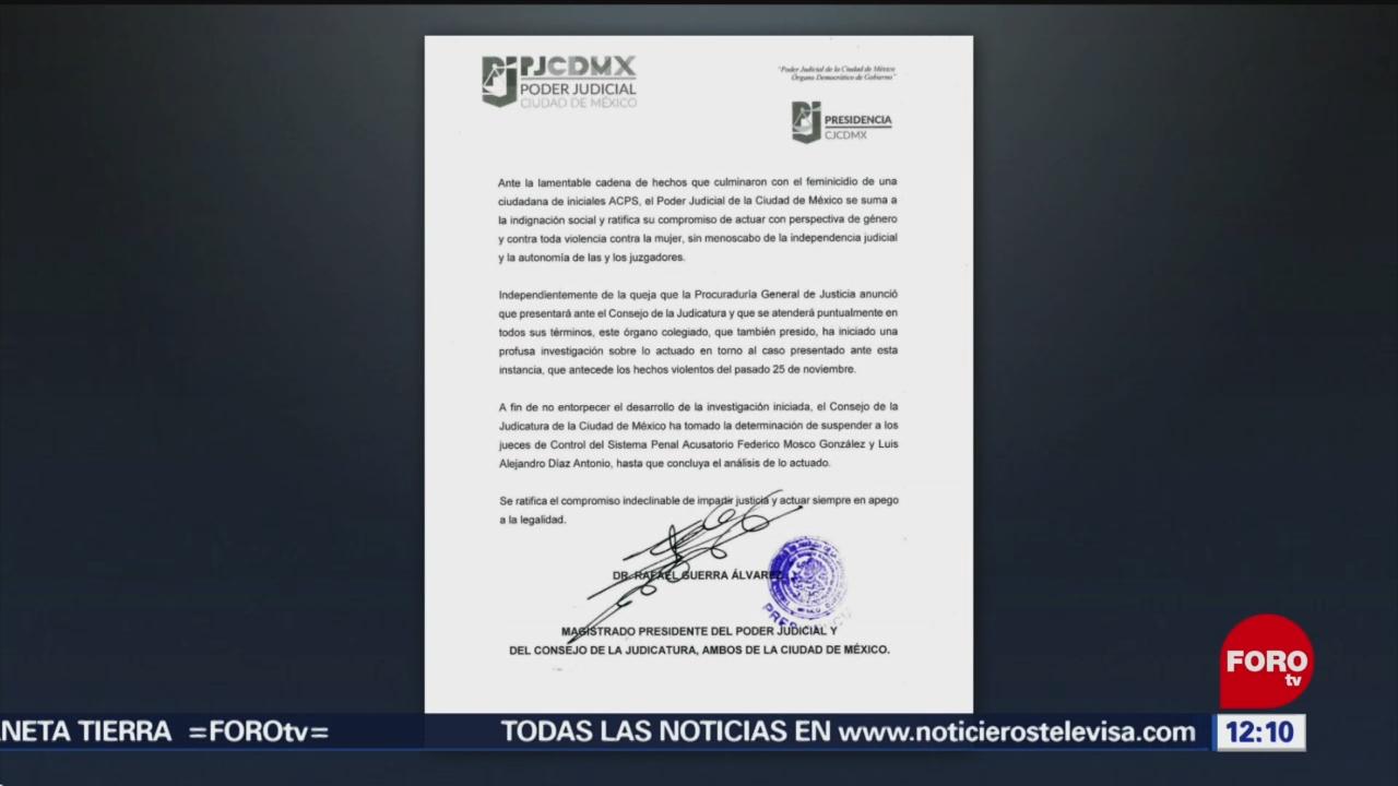 Poder Judicial suspende a los dos jueces del caso Abril Pérez
