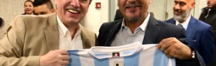Foto: Se prevé que la reunión entre López Obrador y Fernández Reyes se lleve a cabo el día lunes sin protocolo alguno, 2 de noviembre de 2019 (Twitter @maximilianoreyz)
