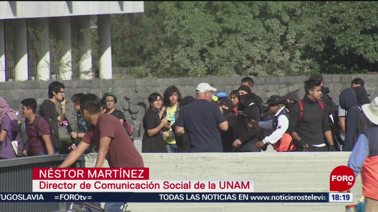 FOTO:Provocadores profesionales causaron daños: UNAM, 15 noviembre 2019