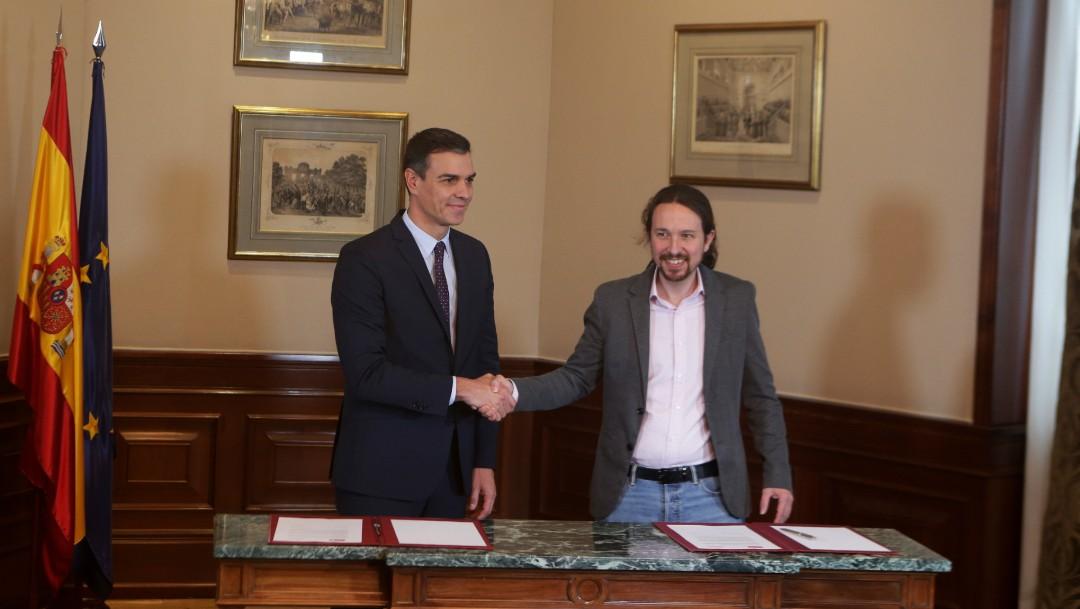 Foto: PSOE y Podemos firman acuerdo para formar Gobierno en España,12 de noviembre de 2019, España