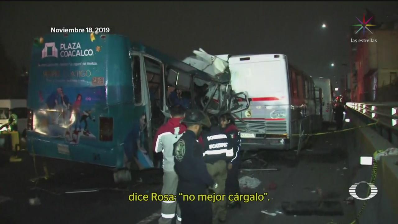 Foto: Sobornan Víctimas Choque Autopista México-Pachuca 20 Noviembre 2019