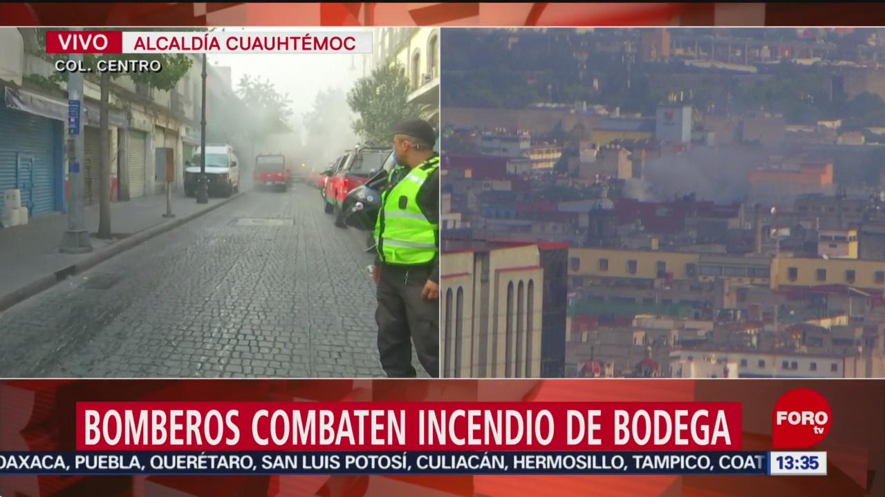 Foto: Suman 10 Horas Incendio Centro Histórico CDMX,