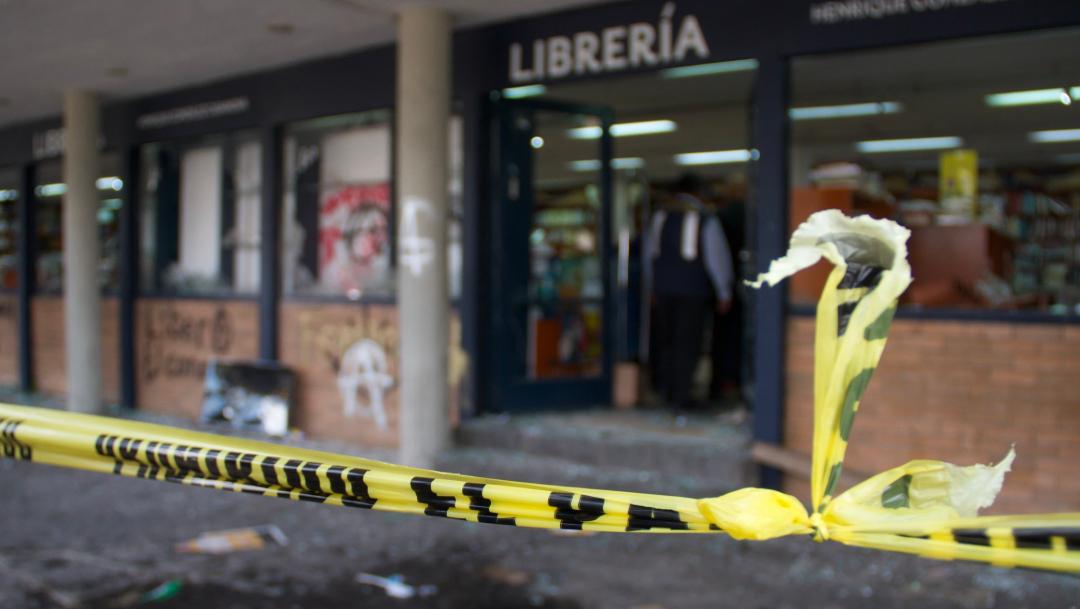 FOTO UNAM ya presentó denuncias por hechos violentos en Rectoría (Cuartoscuro/Andrea Murcia)