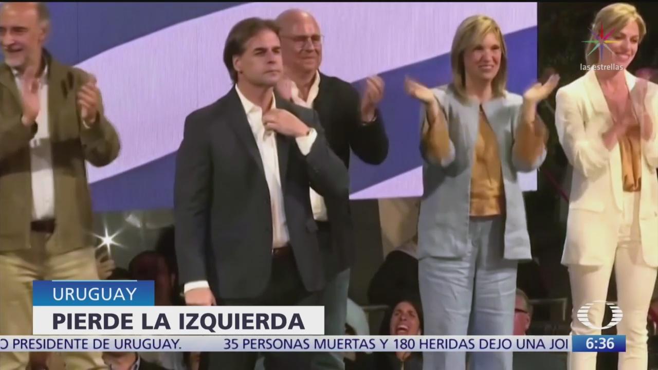 Uruguay ponen fin a 15 años de gobierno de izquierda