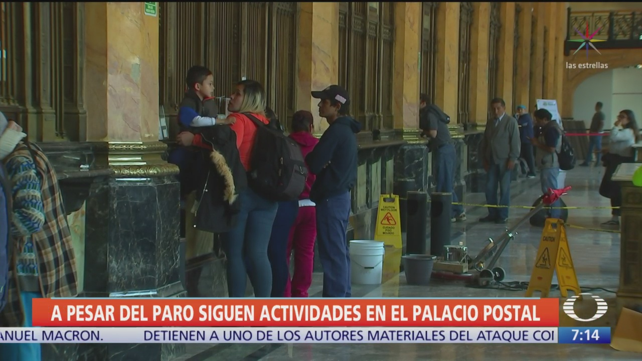 a pesar del paro siguen actividades en el palacio postal